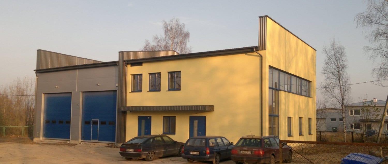 Administracinis pastatas su garažais - techninis projektas