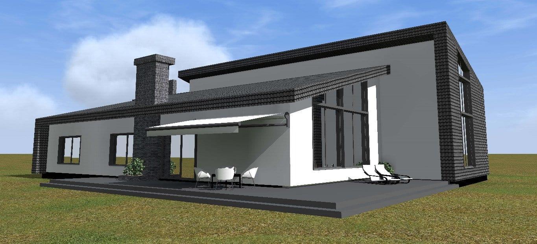 Vienbučio gyvenamojo namo tipinis projektas