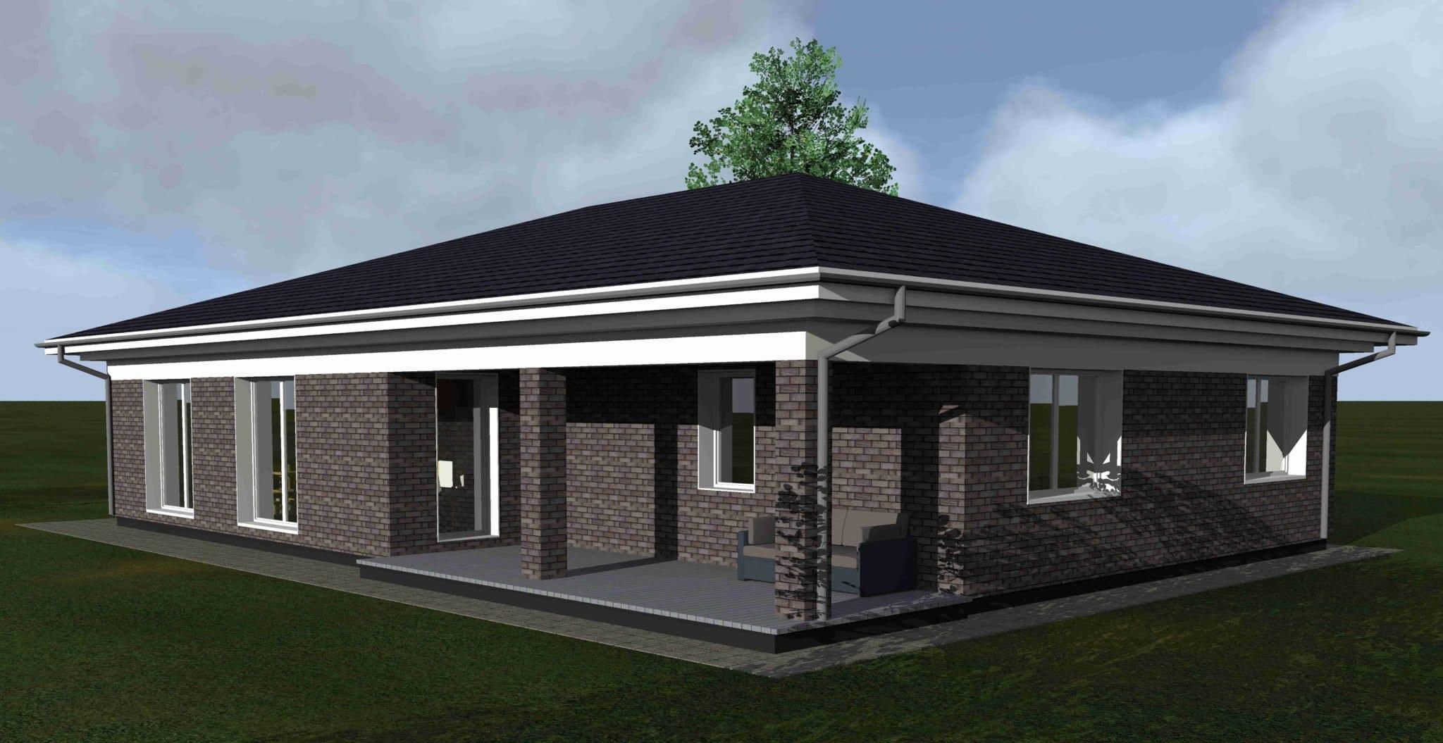 Vienbučio gyvenamojo namo projektas