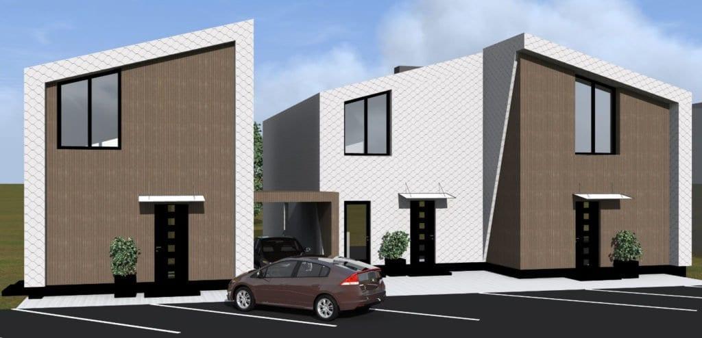 Vienbučio ir dvibučio namo projektas.