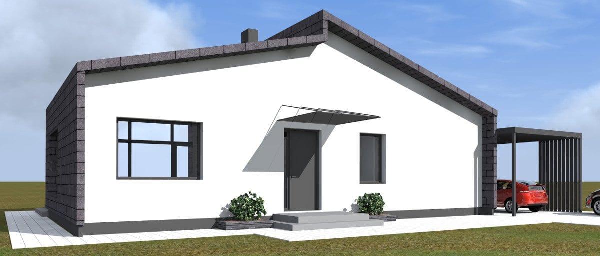 Vieno aukšto vienbutis gyvenamasis namas