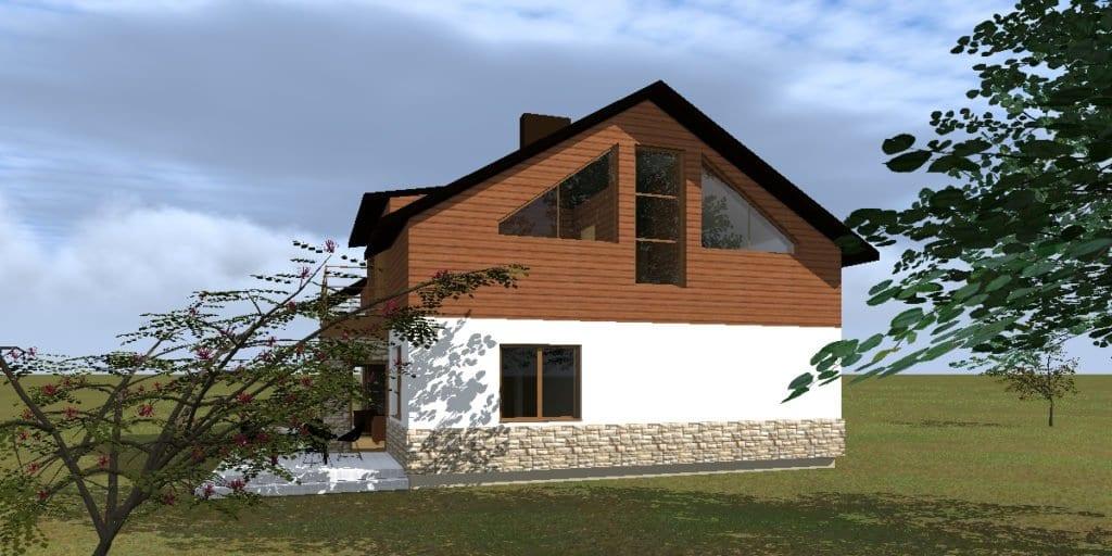 Vienbučio gyvenamojo namo projektas Širvintų r. sav.,