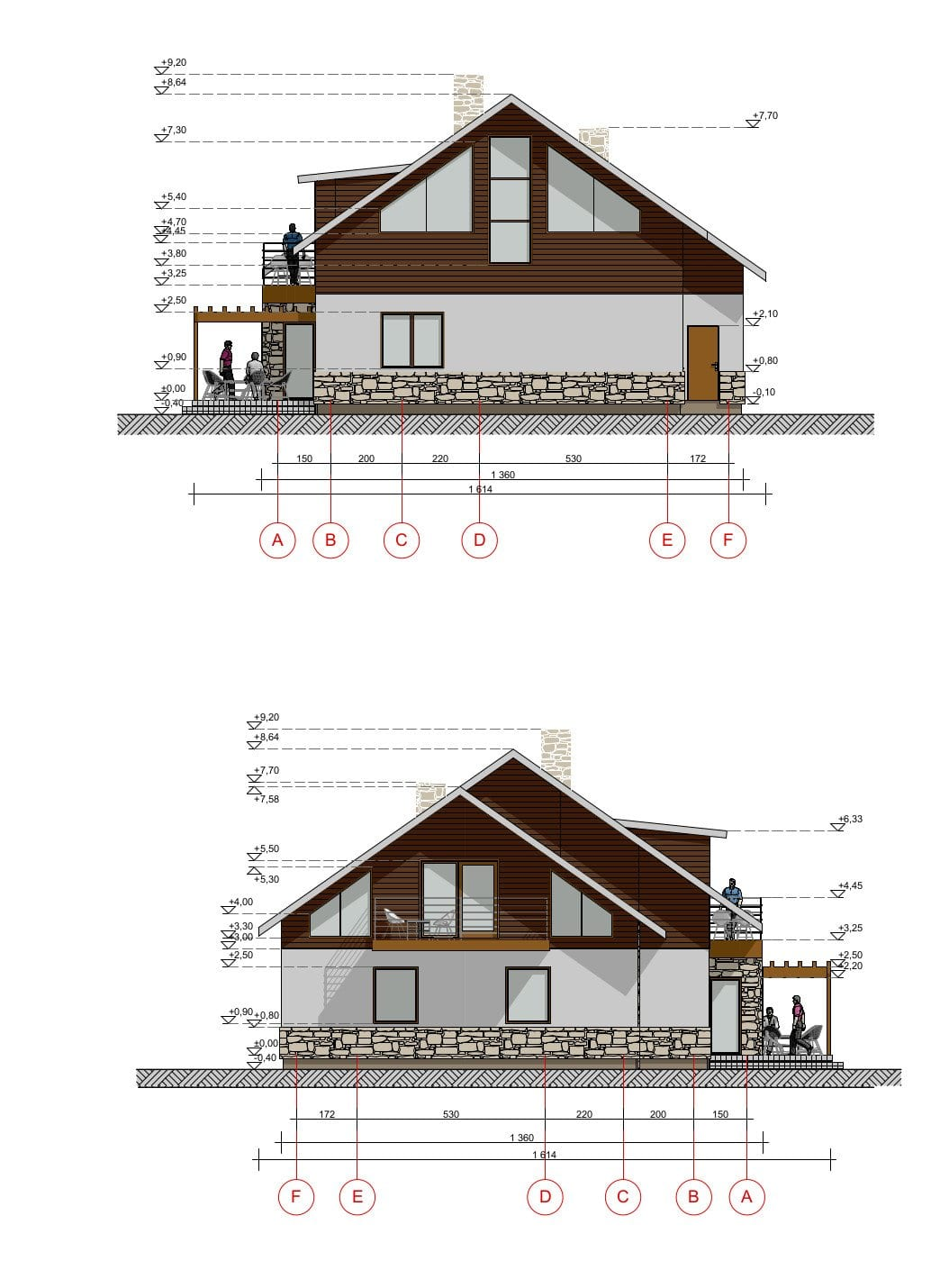 Dviejų aukštų vienbutis gyvenamasis namas
