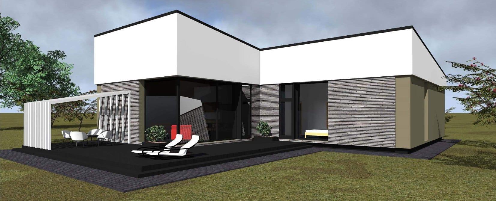 Vieno aukšto vienbučio gyvenamojo namo projektas