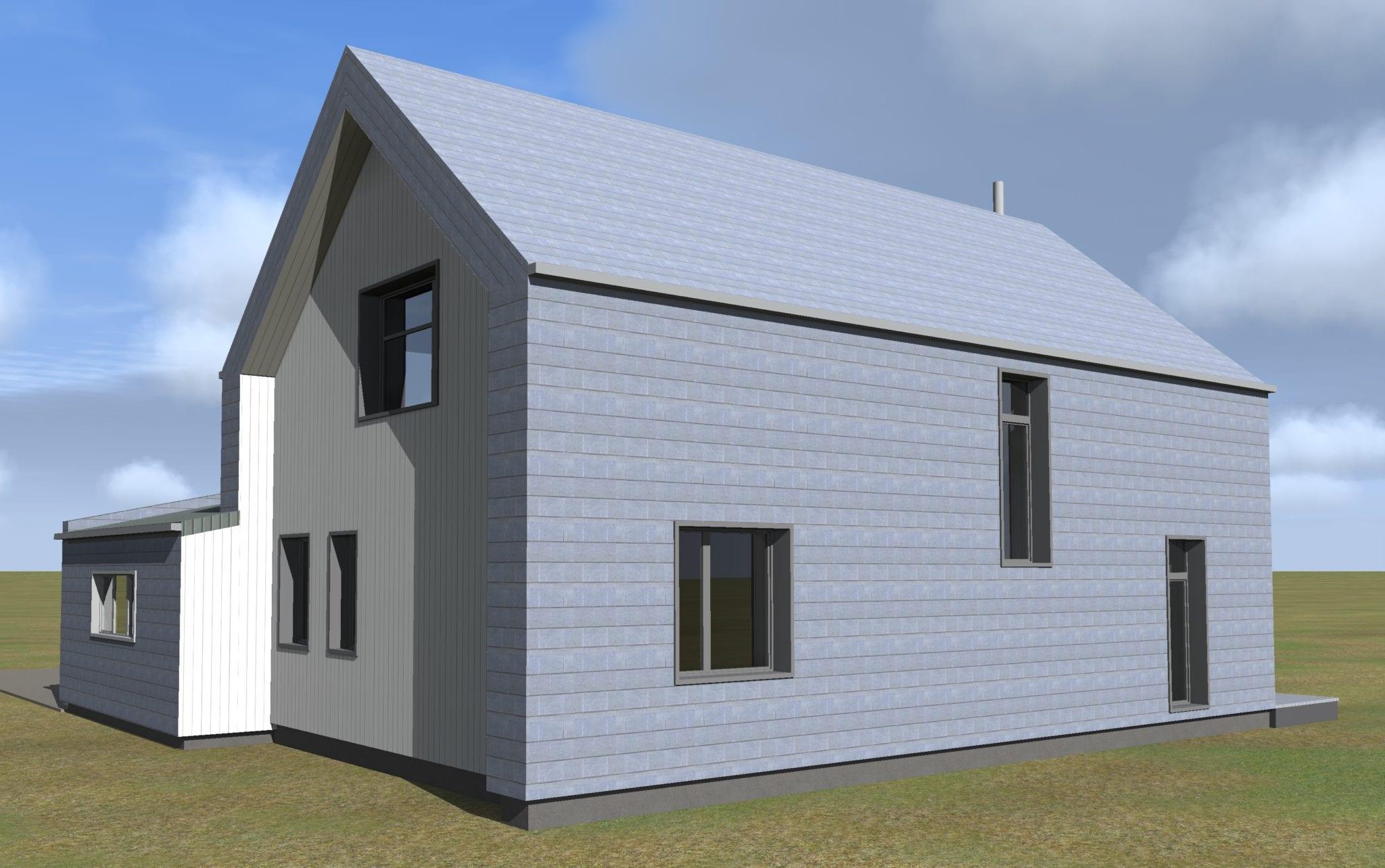 Vienbučio namo projektas vizualizacijos