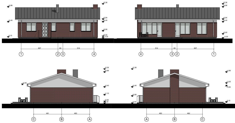Vienbučio gyvenamojo namo projektas planai