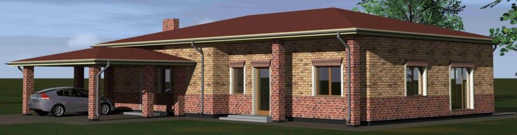 Vienbučio gyvenamojo namo projektas vizualizacijos