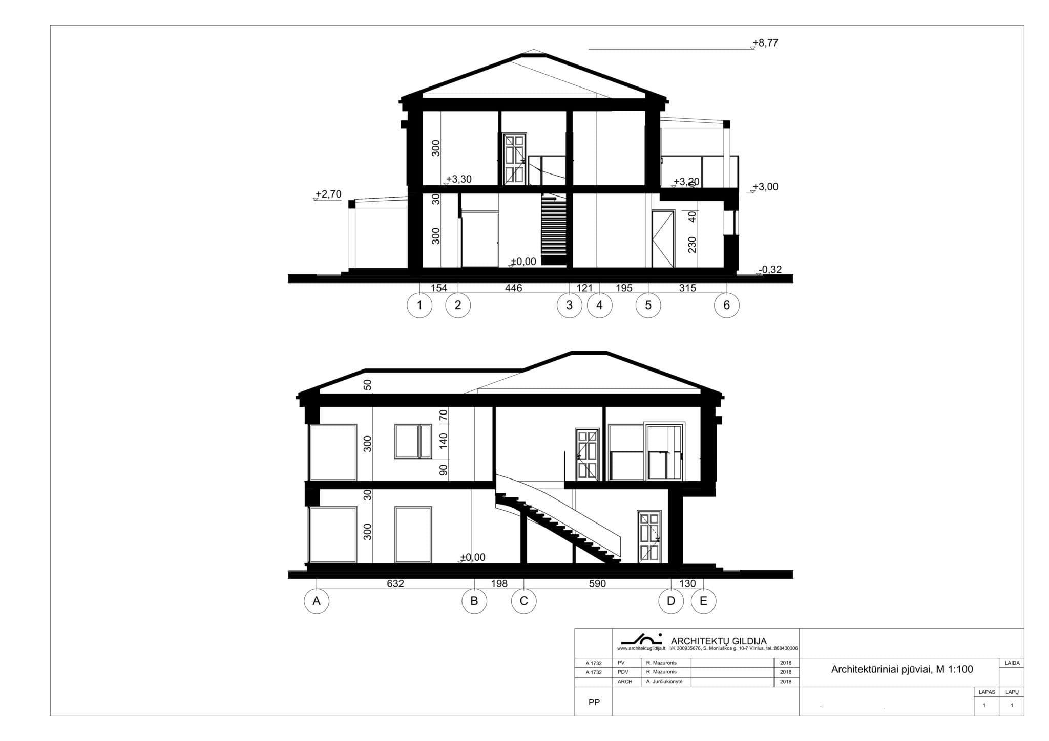 Vienbučio namo projektas