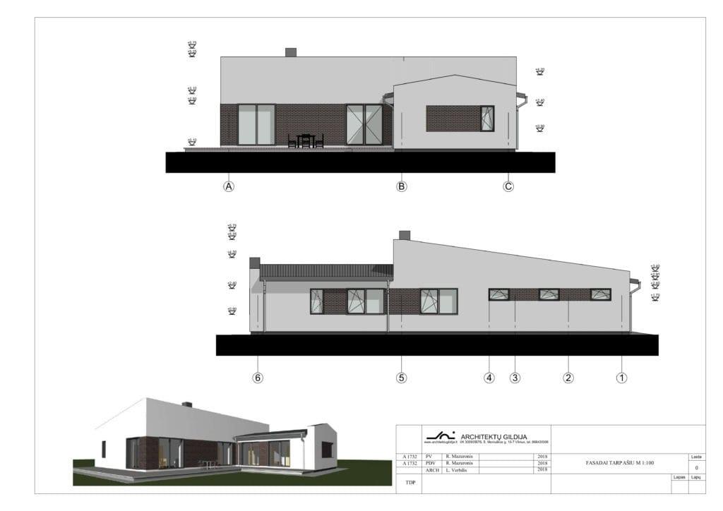 Vienbutis gyvenamas namas, projektas