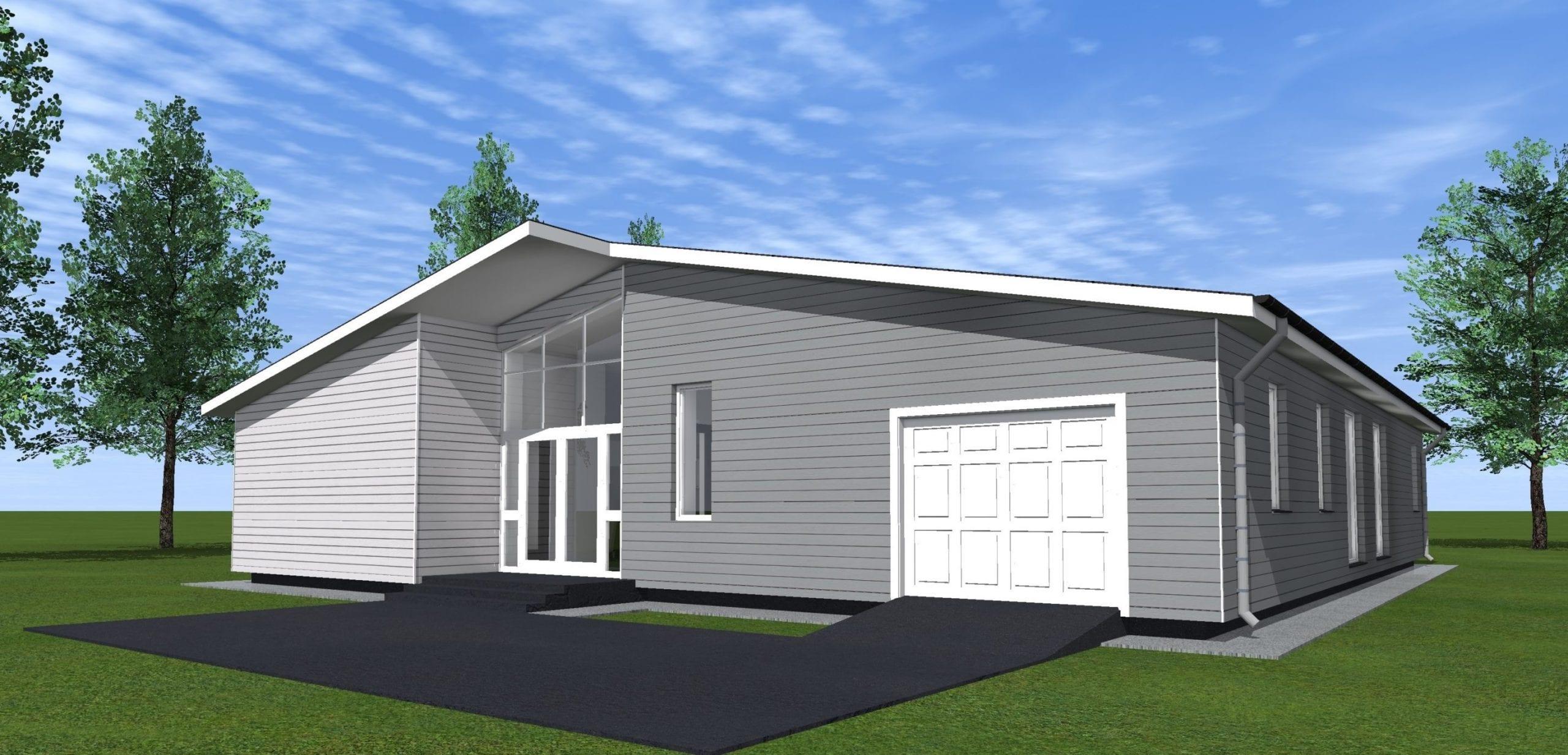 Vienbučių gyvenamųjų namų projektai