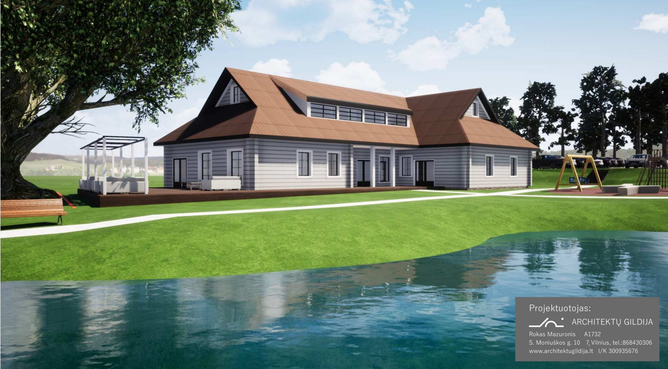 Sodybos projektas - 400 m² ID 108