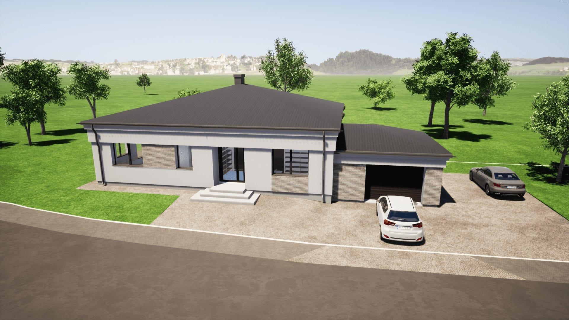 Vieno aukšto namo projektas -180 m² ID 114